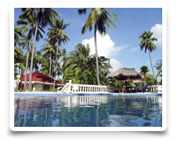 Swimmingpool - Bungalow Resort Whispering Palms Philippines